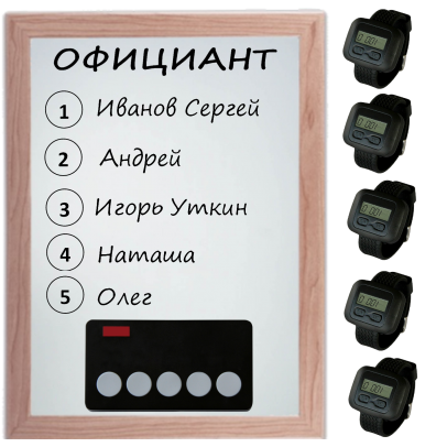 Комплект вызова на кухню RU-5