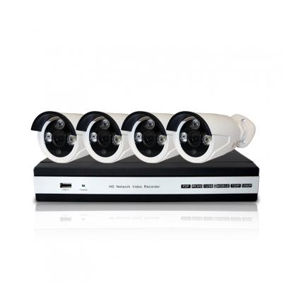 Комплект E4: 4 камеры 720p + ресивер проводной